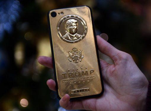 Zlatni ajfon 7 s likom Donalda Trampa košta 151.000 dolara