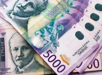 Dinar ojačao 0,1 odsto prema euru