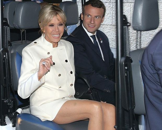 Brigitte Macron and Emmanuel Macron  at the G7 Taormina summit on the island of Sicily on May 26, 2017 in Taormina, Italy. Leaders of the G7 group of nations, which includes the Unted States, Canada, Japan, the United Kingdom, Germany, France and Italy, as well as the European Union, are meeting at Taormina from May 26-27. (Photo by Gabriele Maricchiolo/NurPhoto)