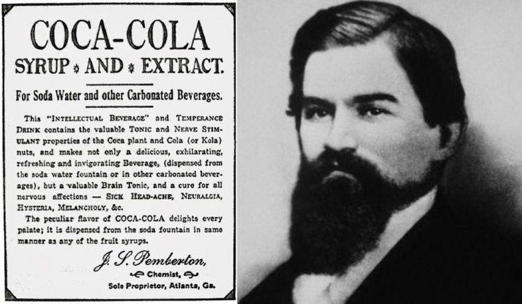 Džon Pemberton i jedna od prvih reklama za Koka Kolu