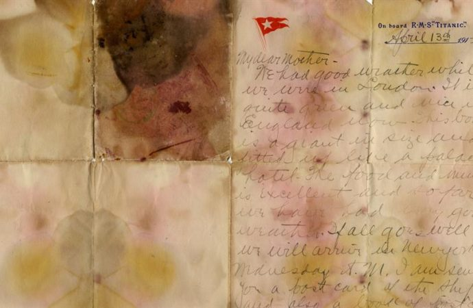 Najvažnije pismo sa Titanika koje je prodato na aukciji
