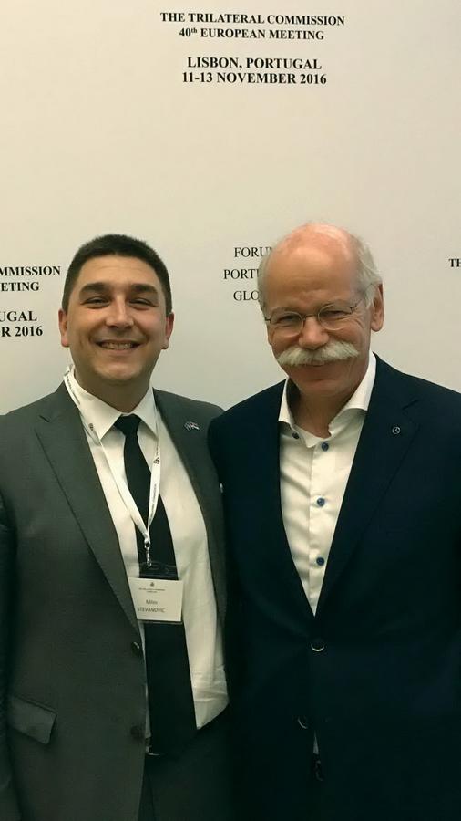 Sa predsjednikom Mercedes Benc korporacije Diter Zečeom