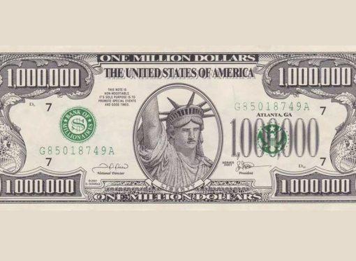 Zaplijenjena novčanica od milion dolara