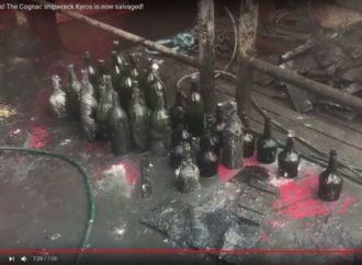 Devesto flaša konjaka i likera izvučeno iz dubine mora