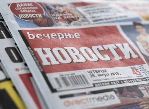 Vlasnik Ruskog cara i zvanično preuzeo Večernje novosti